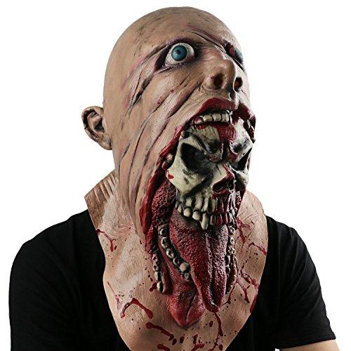 Halloween Maske Halloween Horror Maske Silikon Maske Dress Up Tanz Maske cosplay Maske Karneval (Leatherface Maske Halloween)
