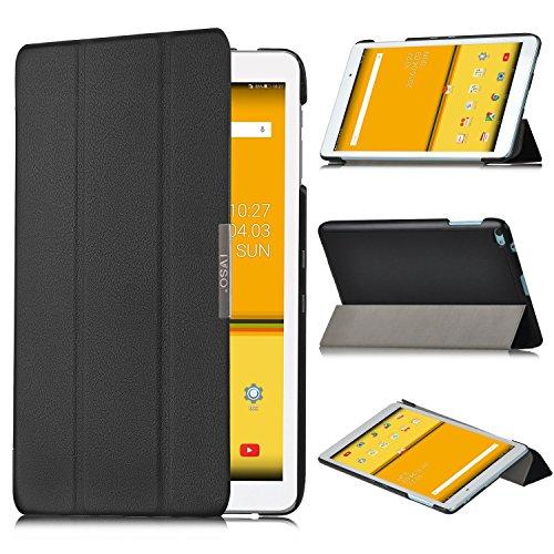 HuaWei MediaPad T2 10.0 Pro Hülle,IVSO Ultra Schlank Superleicht Ständer Slim Leder zubehör Schutzhülle für Huawei WiFi/LTE 25,7 cm (10,1 Zoll) Tablet PC perfekt geeignet, Schwarz
