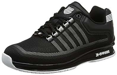 K-Swiss Herren Rinzler Trainer Sneaker, Schwarz (Black/Gull Gray/White), 41 EU