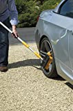2-in-1 Hose Brush Set Telescopic Extendable 3m with Window Cleaning Squeegee Car Washing Caravan