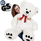 Deuba Kuschel Teddy XXL 150cm in Weiß - Kuscheltier Stofftier Plüschbär Teddy