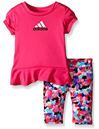 adidas bebé niñas Juego de Capri y Camiseta de ...