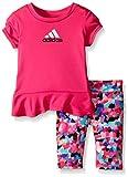 adidas bebé niñas 'Juego de Capri y Camiseta de Manga Corta
