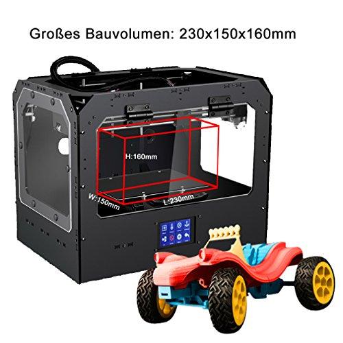 DEMU 3D Drucker Pro einzigen Extruder Kit Touchscreen 3D Printing DIY PLA ABS - 2