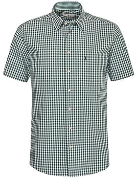 Almsach Kurzarm Trachtenhemd Hias Regular Fit in Dunkelgrün von inklusive Volksfestfinder
