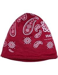 HAD Merino Beanie sombrero, poliéster - India Paisley Berry