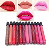 immagine prodotto DE'LANCI Lip Glosses12 colore impermeabile trucco liquido Lip Pencil Super Long Lasting Cosmetic Gloss Rossetto Liquido