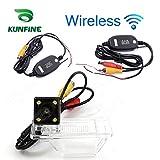 kunfine HD Wireless Car Kamera für Nissan Qashqai 2008/2010/2011/2012Kamera Reverse Backup Kamera Einparkhilfe Kamera Nachtsicht LED-Licht wasserdicht