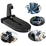 Cartshopper Car Doorstep Easy Access to Car Rooftop Roof-rack Folding Ladder Hooked Foot on Pegs Stand Door Step support with Safety Hammer for Jeep, Car, SUV