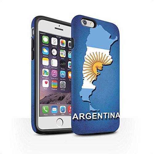 STUFF4 Matte Harten Stoßfest Hülle / Case für Apple iPhone 7 / Kroatien/Kroatische Muster / Flagge Land Kollektion Argentinien