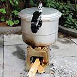 Lixada Edelstahl Holzofen Für Picknick BBQ Camping 7,09X 6,50 X 0.39 Inch - 4