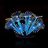 Kimruida Silikon leuchtende künstliche Korallen Pflanzen Ornament Dekor für Aquarium Aquarium