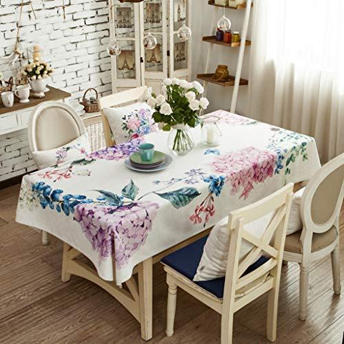 Nordic Ins Nappe de Coton Rectangle Couverture de table antipoussière pour la cuisine dinning décoration de table parties intérieures ou extérieures, utilisation quotidienne (taille : 130 * 210cm)