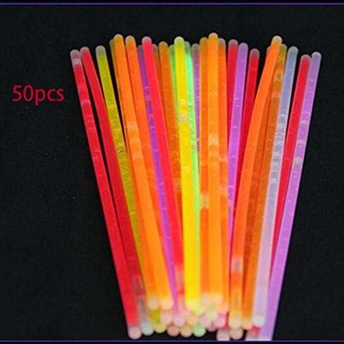 Fenghong Hochzeitsparty, 50Pcs Light Stick Light Armband Knicklichter Armbänder Fluorescent Neon Decor Farbe zufällig