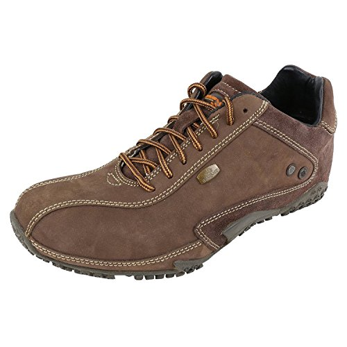 Woodland Mens Leather Casual Shoes Brown Colour