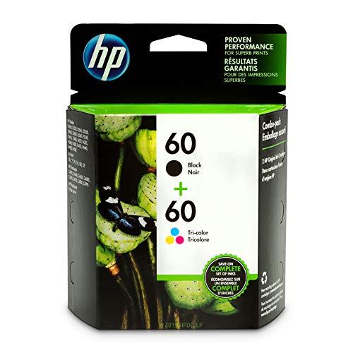 HP 60Schwarz & dreifarbig Original Tintenpatronen, 2Patronen (CC640WN, CC643WN) (Hp 60 Tintenpatrone Schwarz)