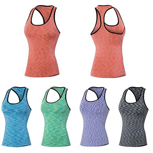 Balai Femme DEbardeur Running Sans Manche Sport T Shirt Tank Top Gym Sport veste Training course sans manches gilet S M L XL XXL Rouge