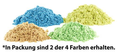 *Playtastic Spielsand: Kinetischer Sand in 2 Farben, je 300 g, mit Sand-Formen und Werkzeugen (Sandknete)*