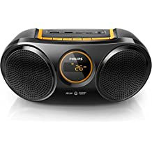 Philips CE AT10/00 - Radio portátil (Bluetooth, FM, pantalla LED), negro