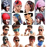 #7: ARIRA MIX DESIGN (PACK OF 12 PCS) BANDANA ,HEADWEAR,HEAD WRAP,NECK GAITER,HEAD BAND,FISHING MASK,MAGIC SCARF,TUBE MASK,FACE BANDANA MASK,NECK BALACLAVA AND SPORT SCARF 12 IN 1 HEADBAND SWEATBAND FOR FISHING,HIKING,RUNNING,MOTORCYCLING,CYCLING
