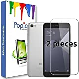 POPIOTM Tempered Glass Screen Protector for Redmi 5A (5 inch) with Free Installation kit with Secure Packing. (2 Pack)