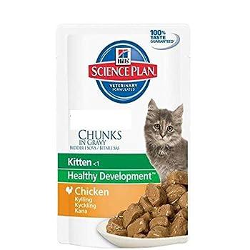 Hill's Science Plan Feline Chaton 1er Nutrition Sachet de Nourriture pour Chat Mixte/Poulet 12 sachets x 85 g