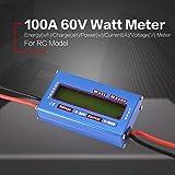 fghdfdhfdgjhh Equilibrio de Voltaje Digital Potencia vatio Corriente de energía Medidor Analizador Probador Comprobador para RC Drone Batería 60 V 100 A Vatímetro