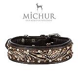 MICHUR Joris, Hundehalsband, Lederhalsband, Halsband, Leder, in Verschiedenen Größen erhältlich