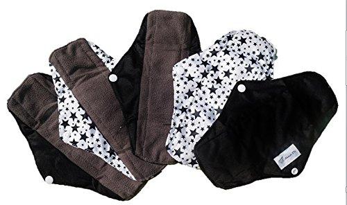 5er Set NATUR TK Biologische Bambus Naturbinden, Stoffbinden, Textilbinden, Binden dunklen 5