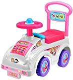 Push Along Smart Ride On Car Pink Walker Toy With Under Seat Storage