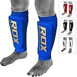 RDX MMA Boxen Schienbeinschutz Kampfsport Kickboxen Schienbein Schienbeinschoner Beinschützer Blau S