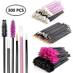 Einweg Make-up Applikator Mascara Stäbe & Lippenstift Applikatoren & Eyeliner Pinsel 300 STÜCKE Tägliche Make-Up Pinsel Sets Kits 6 Stile