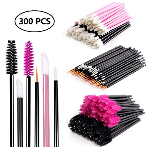 Einweg Make-up Applikator Mascara Stäbe & Lippenstift Applikatoren & Eyeliner Pinsel 300 STÜCKE Tägliche Make-Up Pinsel Sets Kits 6 Stile