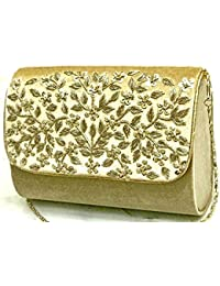 Tooba Handicraft hand Embroidered Women's Exclusive Sling Clutch