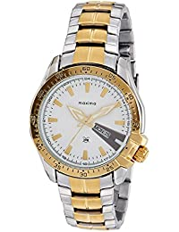 Maxima Analog White Dial Men's Watch - 41621CMGT
