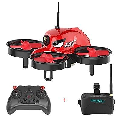 REDPAWZ R011 5.8G FPV Racing Drone 40CH with 1000TVL FOV 120° Wide-angle Camera 3 Inch VR-D1 Goggles Micro FPV Quad - RTF
