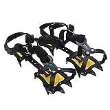 Baisde Eis Crampons 10 Zähne Klauen Verstellbare Zugkraft Stollen rutschfeste Schuhe Abdeckung für Outdoor Ski Schnee Wandern Klettern , yellow