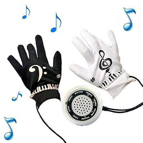 HWAMART ® GUANTI pianoforte pianoforte elettronico guanti dello strumento di esercitazione della tastiera del gioco musicale per adolescenti e adulti, regalo stupefacente