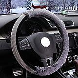Coprivolante invernale breve peluche caldo simpatico diamante auto volante copricuscino in pelliccia set da donna slip universale (colore : A)