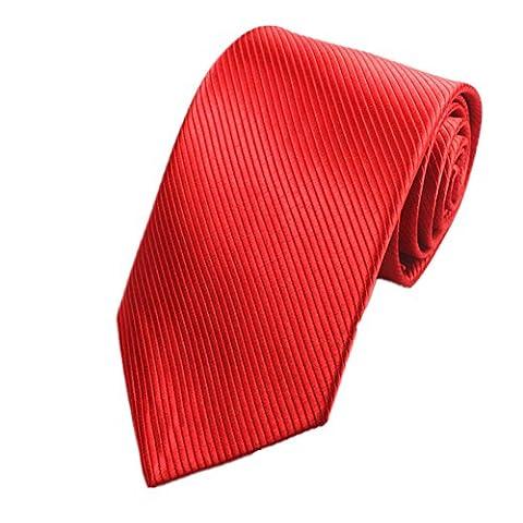 Z-P Mens Red Luxury Elegant Necktie Knit Woven Jacquard Skinny Tie