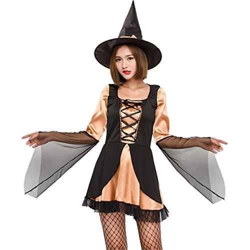 Kostümparty Kostüme Halloween Hexe Spiel Bühnenkostüm Hexe Cosplay Hexenkleid Adult Rave Party Kostüme Rollenspiel Kostüme (Größe : - Party Stadt Gothic Kostüm