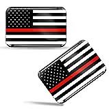 Biomar Labs 2 x 3D Flexibles Autocollant Stickers National Drapeaux États-Unis USA Thin Red Line F 45