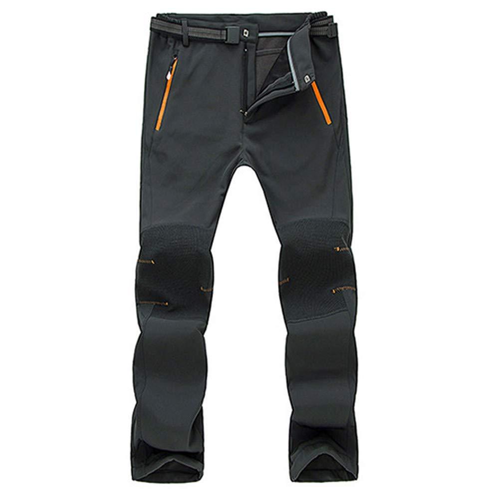 e6f6f71451c5 SOMESUN Uomo Coppia Impermeabile A Prova di Vento All'Aperto Escursionismo  Caldo Inverno Pantaloni Spessi Pantaloni Slim Fit alla Caviglia  Elasticizzati ...