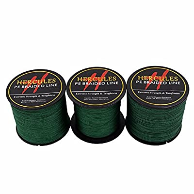 300m 328yds Green 6lbs-100lbs Hercules Pe Dyneema Braid Fishing Line 4 Strands from Herculespro.com