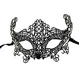 LAMEIDA Máscara de Encaje para Mujer Disfraz de Encaje Veneciano Fiesta de Carnaval de Mascarada Bola de Baile Cara de la Cara Máscara de Disfraces Máscara de Maquillaje
