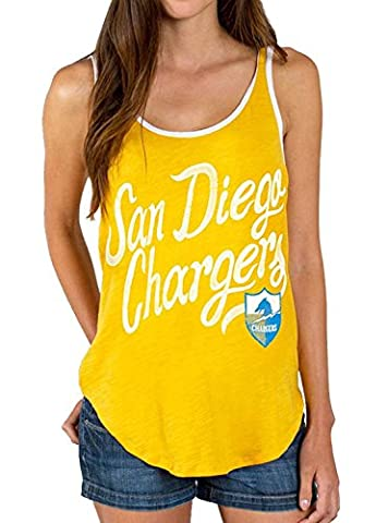 Junk Food NFL San Diego Chargers Mustard Yellow Tank Top