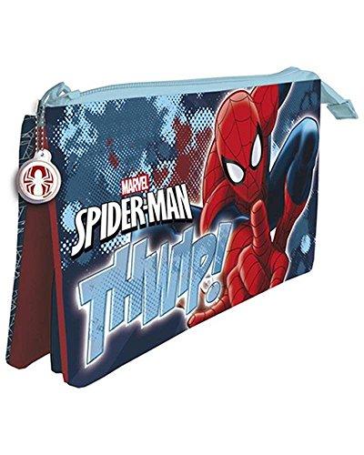 Spiderman de Marvel Estuche portatodo con Tres Compartimentos