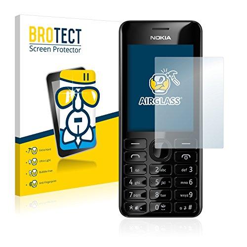 BROTECT Pellicola Vetro Compatibile con Nokia 206 Dual SIM - Vetro Prottetivo, Flessibile 9H, AirGlass