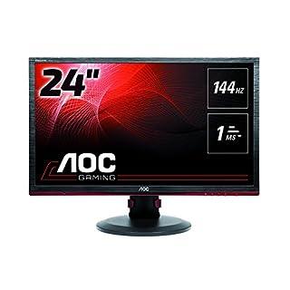 AOC G2460PF 24 inch 144 Hz LED Gaming Monitor (1 ms Response Time, Height Adustable, Display Port, HDMI, DVI, VGA, Speakers, Adaptive Sync, Vesa) - Black