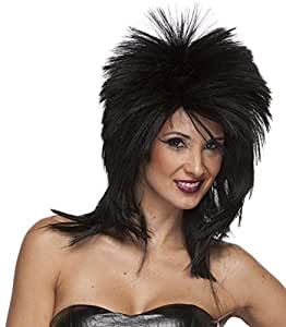 Best Short Black Hair Wig Men And Short Hair Wigs For Women For All Rocker Costume Wig Style. Costume Wigs Are The Latest Trends. If You Are Looking For Costume Wigs For Women Or Costume Wigs For Men, This Short Black Rocker Costume Wig Will The Black Wig Of Choice.